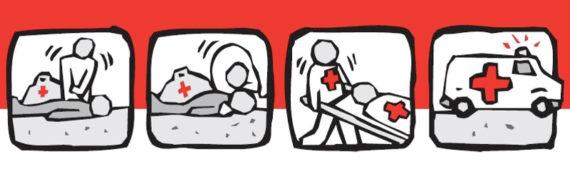 I cartelli stradali che possono aiutarti nel soccorso di un ferito in strada.